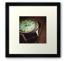 His Watch Framed Print