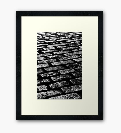 Cobbled Together - Covent Garden - London Framed Print