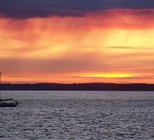 Sunset Over Gurnard by photonovo