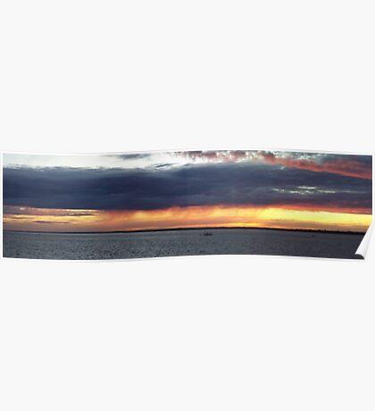 Landscape Sea Sunset Poster