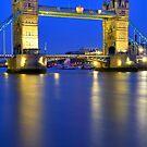 Tower Bridge at Night - London by Bryan Freeman