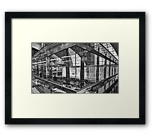 Glass - Steel - Lights - Dubai International Airport Terminal Framed Print