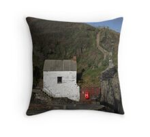 Harbourmasters Office, Porthgain Throw Pillow
