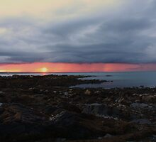Rainy Sunset in the distance by Martina Fagan