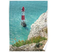 The Lighthouse from Beachy Head - HDR Poster