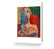 If Picasso had Top Models #2: Love the Camera! Greeting Card