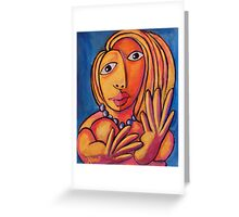 If Picasso Had Top Models #4: Eyes and Hands Greeting Card