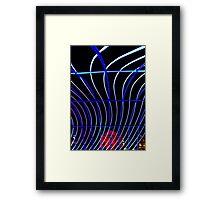 Macquarie Street - Sydney - Vivid Festival Framed Print