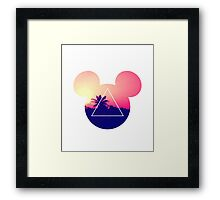 Neon Disney Mickey Ears  Framed Print