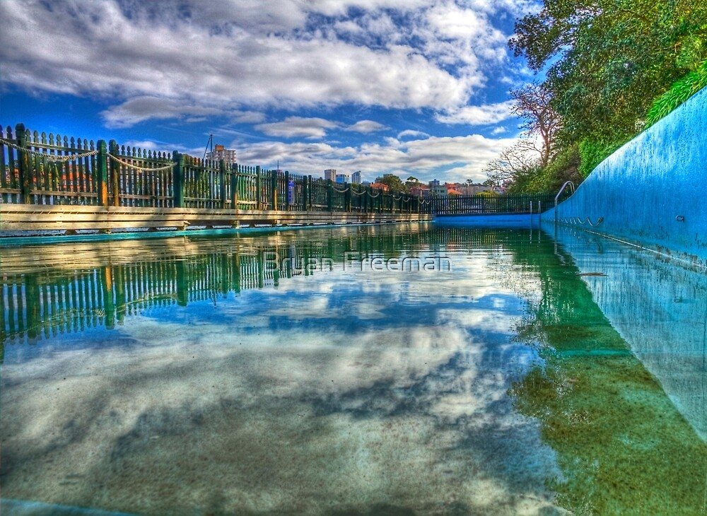 Water Level - MacCallum Pool - Cremorne Point - Sydney - Australia by Bryan Freeman