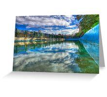 Water Level - MacCallum Pool - Cremorne Point - Sydney - Australia Greeting Card