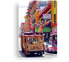 Chinatown Streetcar Canvas Print