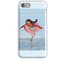 Kids wall art, Journey on a Giant Pink Shank, Beatrice Ajayi iPhone Case/Skin