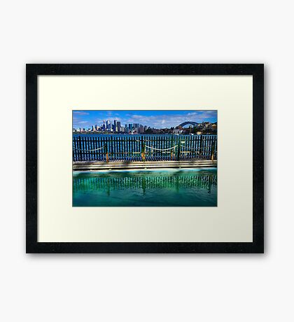 Pool With A View - Cremorne - Sydney Australia Framed Print