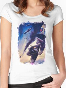 WW2 Propaganda Poster Reproduction Women's Fitted Scoop T-Shirt