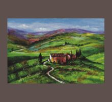 TUSCANY LANDSCAPE WITH GREEN HILLS Baby Tee