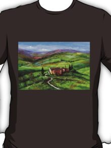 TUSCANY LANDSCAPE WITH GREEN HILLS T-Shirt