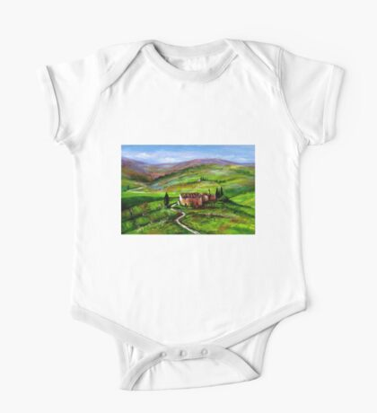 TUSCANY LANDSCAPE WITH GREEN HILLS One Piece - Short Sleeve