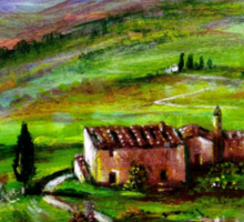 TUSCANY LANDSCAPE WITH GREEN HILLS Sticker