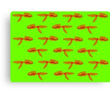 Toothy Fish (green) Canvas Print