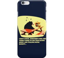 Bear - More to life dark iPhone Case/Skin