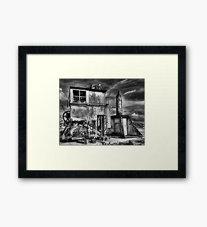Apocalypse Crane - Cockatoo Island - Sydney - Australia Framed Print