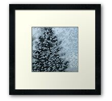 Nature's Christmas Tree - Abstract Winter Scape  Framed Print