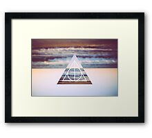 Harry Potter Deathly Hallows Triangle Symbol Photo Beach Framed Print