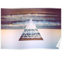 Harry Potter Deathly Hallows Triangle Symbol Photo Beach Poster