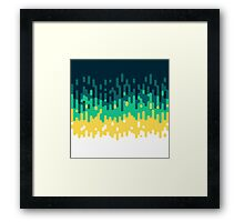 Melted - Teal Framed Print
