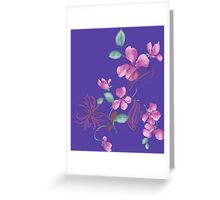 Cute purple flowers Greeting Card