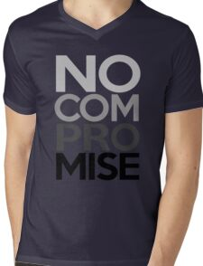 No Compromise, Really, No (Grayscale) Mens V-Neck T-Shirt