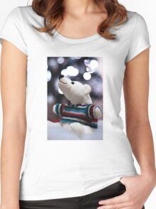 Polar bears Christmas Women's Fitted Scoop T-Shirt