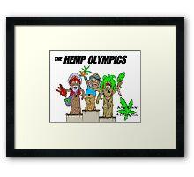 HEMP OLYMPICS Framed Print