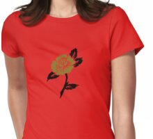 Retro rose tattoo Womens Fitted T-Shirt