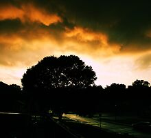Sun Set after storm by enigma365