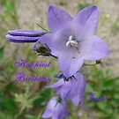 Blue Bell Birthday Card by MaeBelle