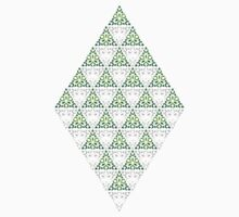 Modern - Triangles of Silver and Green Kids Tee