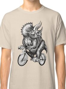 Triceratops Ride Bicycle  Classic T-Shirt