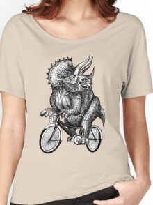 Triceratops Ride Bicycle  Women's Relaxed Fit T-Shirt