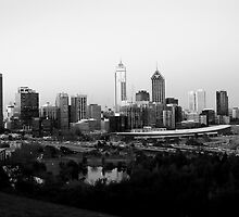 Perth City B&W by mattsibum