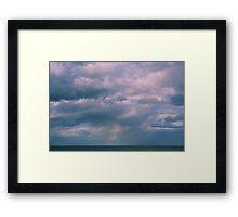 rainbow sea view Framed Print