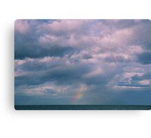 rainbow sea view Canvas Print