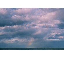 rainbow sea view Photographic Print