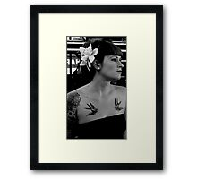 Rockabilly queen Framed Print