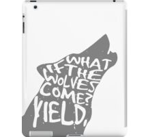 what if the wolves come? iPad Case/Skin