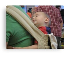 Napping baby Canvas Print