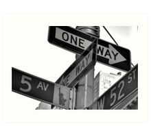 5th Avenue and 52nd Art Print