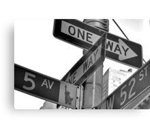 5th Avenue and 52nd Metal Print