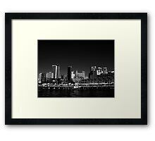 Campbell's Cove in B&W Framed Print